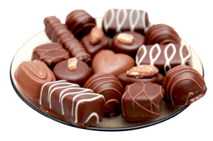 chocolates in a plate j7d